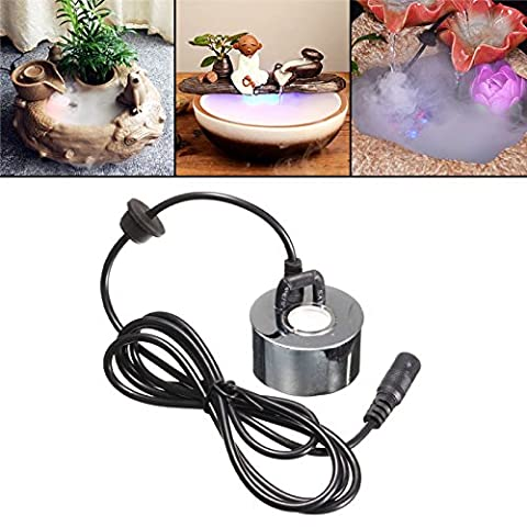 Povkeever Ultrasonic Mist Maker Water Fountain Pond Atomizer Air Humidifier, DIY Fog Humidifier (Atomizer Fogger)
