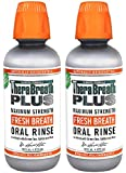 TheraBreath PLUS Fresh Breath Extra Strength Green Tea Oral Rinse, 16 Ounce (Pack of 2)