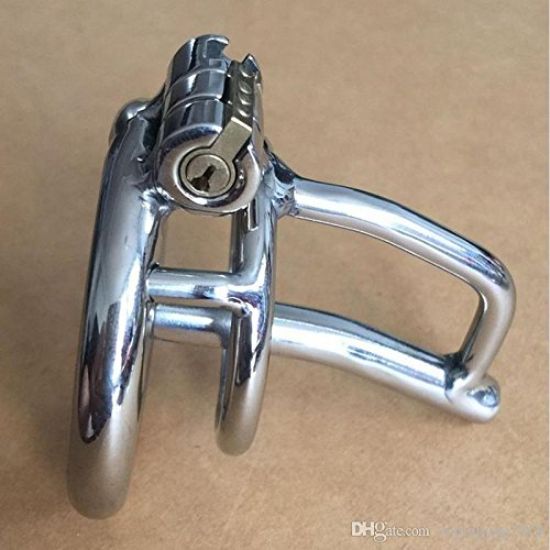 Teriya New Lock Small Male Chastity Devices With Urethral Sound Catheter BDSM Sex Toys For Men 5CM length Cock Cage by Chastity Devices
