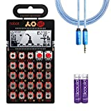 Teenage Engineering PO-28 Robot Pocket Operator 16 Sounds & Effects Synthesizer –INCLUDES– Blucoil Audio Premium Headphone 3.5mm Extension Cable AND 2-Pack of AAA Batteries
