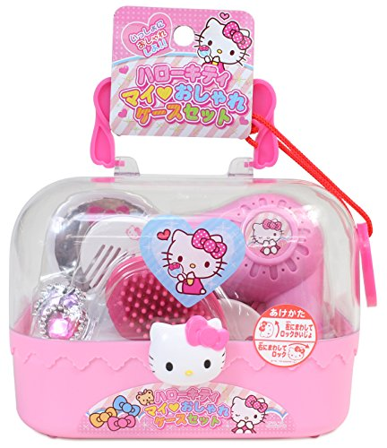 Hello Kitty Pink Styling Case with Various Beauty Accessories (Japan Import)
