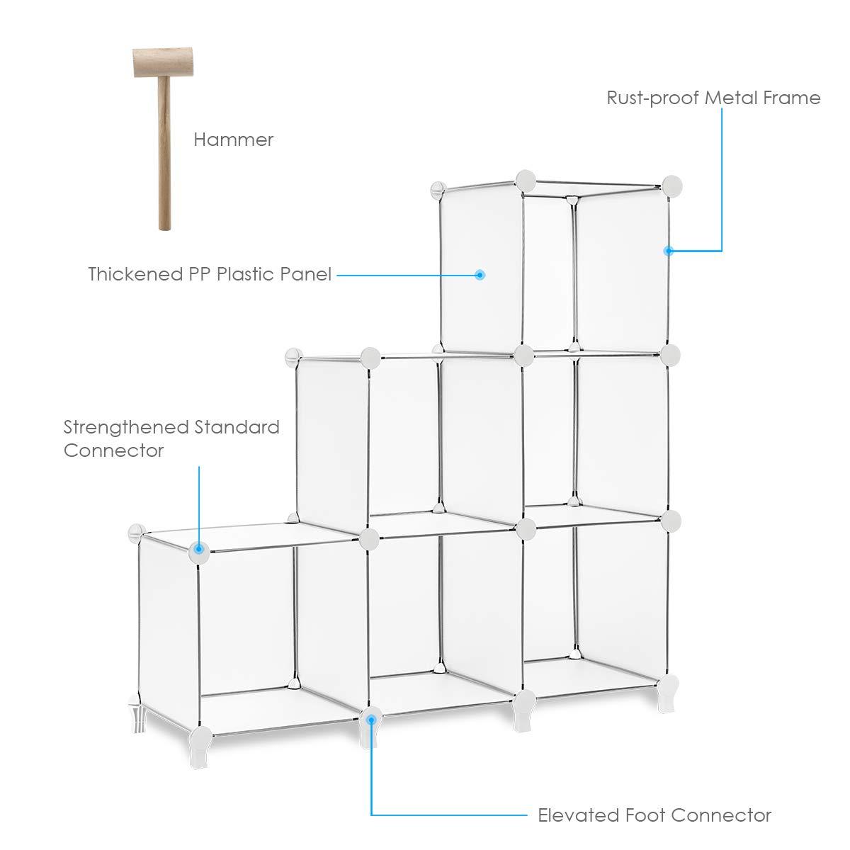 TomCare Cube - Estantería organizadora de almacenamiento, 6 cubos ...