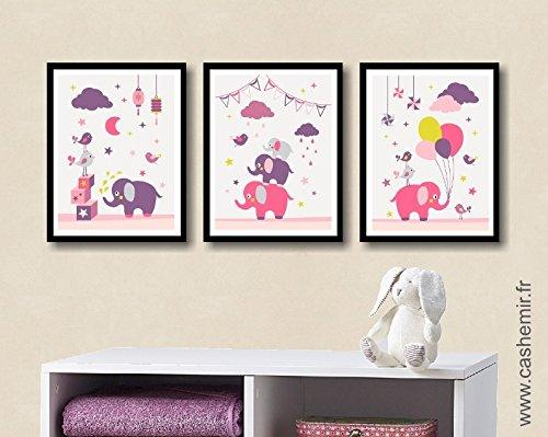 Affiche enfant décoration chambre bébé fille déco chambre enfant ...