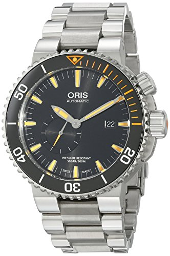 Oris Men s 74377097184MB Analog Display Swiss Automatic Silver Watch