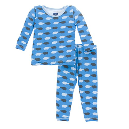 KicKee Pants Little Boys Print Long Sleeve Pajama Set, River Pig, Boys 9 (Kickee Pigs)