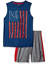 Boys' Americana Athletic Muscle Tee and Mesh Short 2 Piece Set