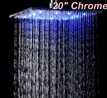 5151buyworld hochwertig Wasserhahn Luxus- und Einzelhandel, Chrom, Messing-Square Regen-Duschkopf-in-Sprühgerät für Badezimmer, Küche zuhause gaden
