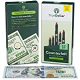 Premium Counterfeit Pens by TrueDollar (12 Pack) - Detects Fake Counterfeit Bills Quickly - Universal Bill Detector for Money Loss Prevention
