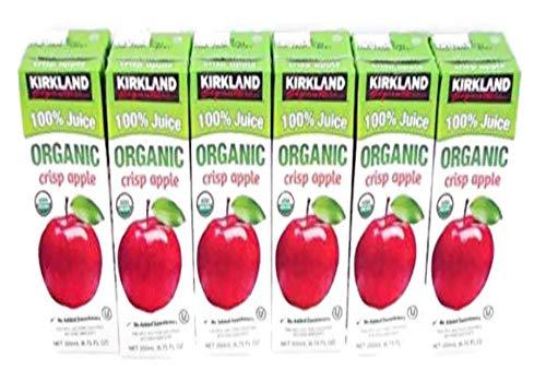 Crisp Box - Kirkland Organic 100% Juice 6 (6.75 fl. oz.) Boxes with Straws Crisp Apple