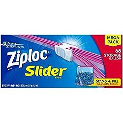 Ziploc Slider Storage Bags Gallon, 68.0 Count