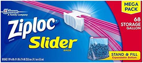 ziploc slider freezer bags gallon - 9