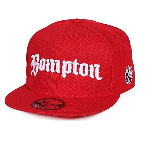 Bompton Hat: OGABEL Men's Bompton Snapback Hat (Red)