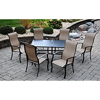 Outdoor Innovations Bimini 7 Piece Aluminum Dining Set