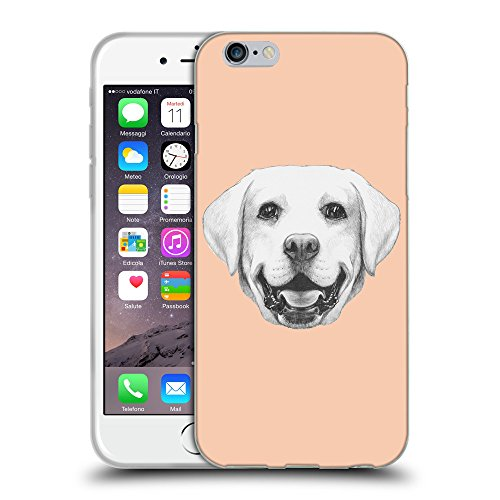 GoGoMobile Coque de Protection TPU Silicone Case pour // Q05370604 Portrait labrador Abricot // Apple iPhone 6 4.7""