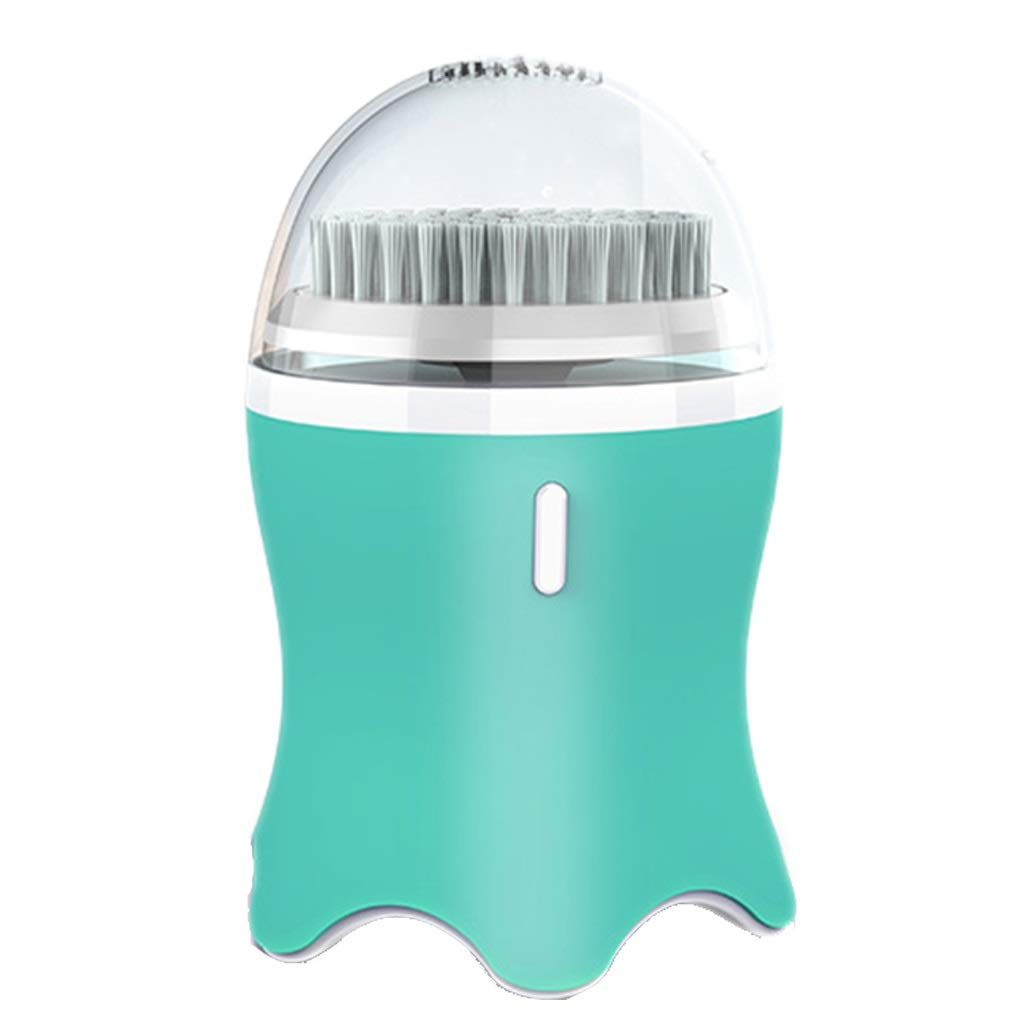 I want to fly freely Cleansing Instrument Sonic Pore Cleaner Household Electric Facial Washing Instrument Cleaning Blackhead Waterproof Female Artifact Color : Tiffany Blue (2 Sets) by I want to fly freely