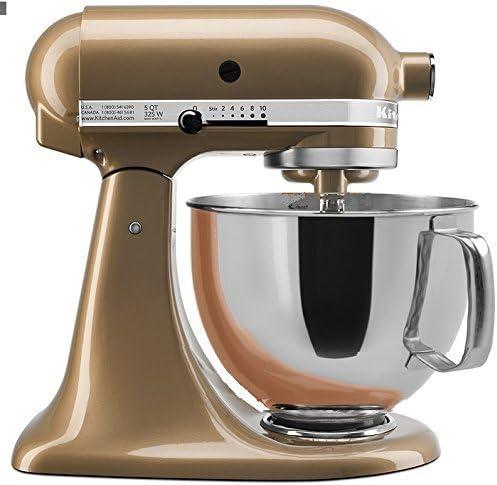 Amazon Com Kitchenaid Stand Mixer Tilt Head 5 Quart Rrk150cz Renewed Champagne Gold Kitchen Dining