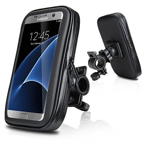 Wasserdicht Fahrradhalterung, Repou Fahrrad und Motorrad Halterung Halter Universal mit Wasserdichter Tasche für Handy Smartphone 5,2 Zoll - 5,7 Zoll wie z.B. iPhone 6s Plus, iPhone 6 Plus, Samsung Galaxy S7 EDGE, Samsung Galaxy S7, Samsung Galaxy S6 S5, Samsung Galaxy S6 EDGE, HUAWEI P9 P8, LG G5 G4