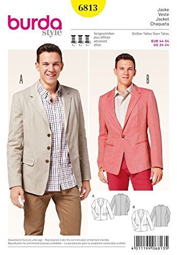 Amazon Burda Mens Sewing Pattern 40 Smart Suit Jackets In 40 Unique Mens Suit Sewing Patterns