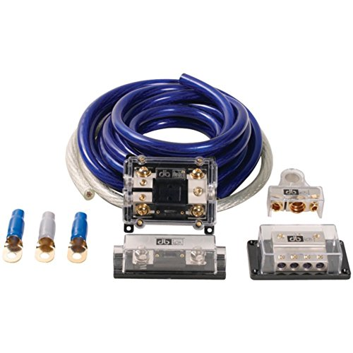 db Link CK0DZ Amp Installation Kit 0-Gauge Competition Series 4000W Blue/Silver Consumer Electronics