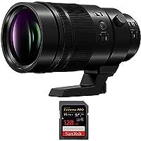 Panasonic LUMIX G Leica DG Elmarit Pro Lens, 200mm, F2.8 ASPH., Mirrorless 4/3rds (H-ES200) with Sandisk Extreme PRO SDXC 128GB UHS-1 Memory Card