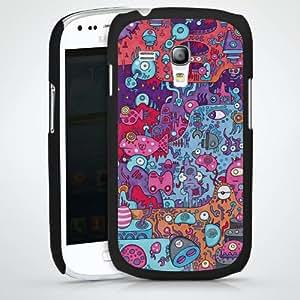 Carcasa Design Funda para Samsung Galaxy S3 Mini I8190 HardCase black - fluffyworlds