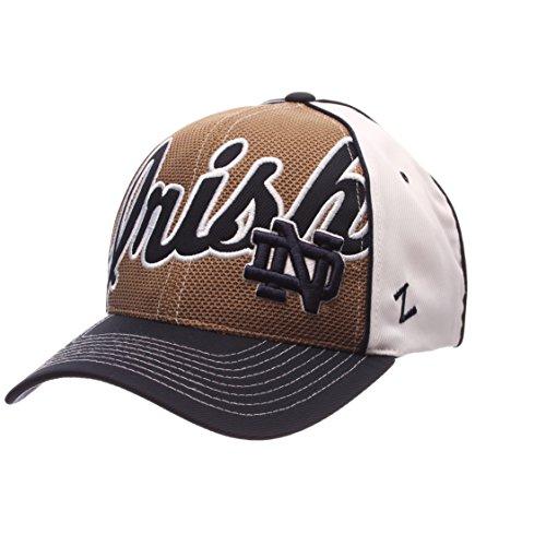 NCAA Notre Dame Fighting Irish Men's Uprising Hat, White/Navy, Adjustable