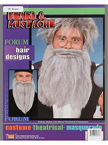 14 Inch Gray Mustache And Beard Costume Kit
