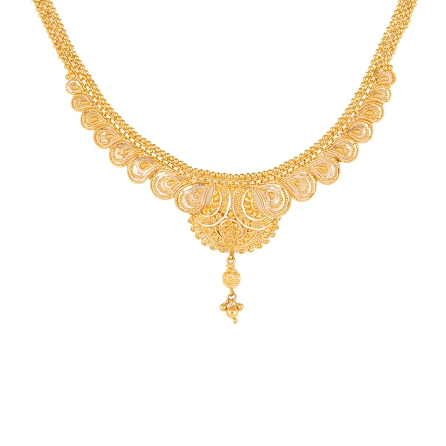 Buy WHP Jewellers 22k Yellow Gold Chain Necklace Online at Low ...