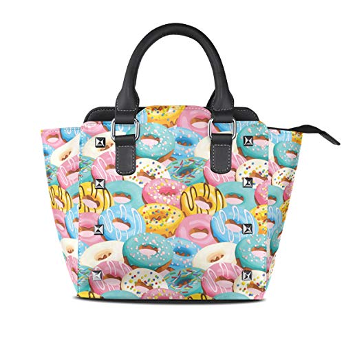 e Glazed Donut Mix Women Top Handle Satchel Handbags Shoulder Bag Tote Purse Messenger Bags ()