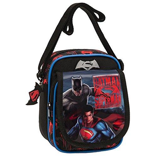 Warner Batman Vs Superman Borsa Messenger, Poliestere, Grigio, 19 cm
