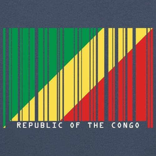 Republic of the Congo / Republik Kongo Barcode Flagge - Herren T-Shirt - Navy - S