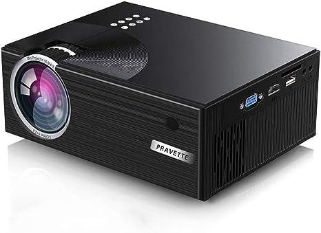 Amazon.com: Proyector PRAVETTE Mini Proyector Portátil 1080p ...