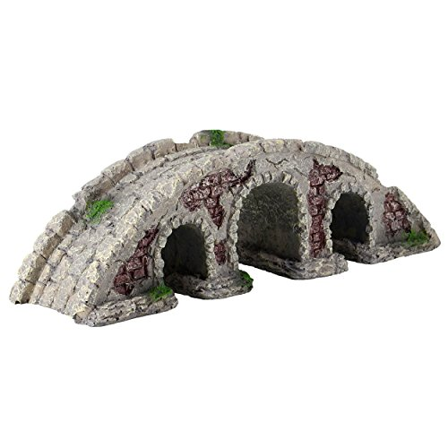Underwater Treasures 65231 Stone Bridge Aquarium Ornament