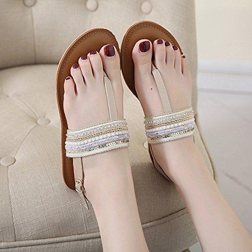 GTVERNH sandali dito svuotata boemia fondo albicocca i un piatto trentotto sandali eolica nazionale femminili rSwqzrx