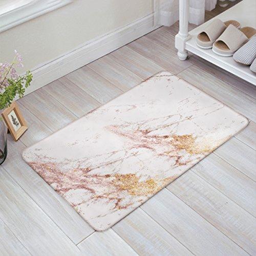 - HomeCreator Modern Rose Gold Marble Triangle Door Mats Kitchen Floor Bath Entrance Rug Mat Absorbent Indoor Bathroom Decor Doormats Rubber Non Slip 32