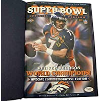 $144 » John Elway Signed Super Bowl XXXII Champions Commemorative Program 22819 - JSA Certified - Autographed NFL Magazines