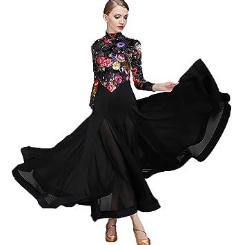 Moda Impresa Terciopelo Vestidos de Baile Modernos Cuello Alto ...