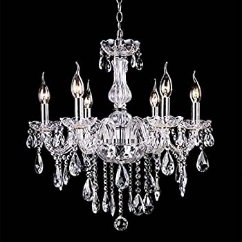 Amazon wakrays crystal lamp fixture pendant light ceiling chain wakrays crystal lamp fixture pendant light ceiling chain candle chandelier clear aloadofball Image collections