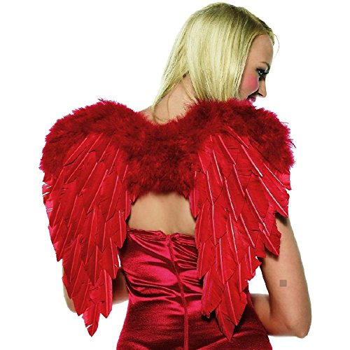 Cupid Costume Kit Red Wings Bow & Arrow Valentine's Day Halloween Fancy (Red Cupid Wings Costume)