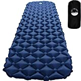 Ultralight Air Sleeping Pad - Camping Lightweight Inflatable Mat - Portable Waterproof Mattress for Traveling, Hiking, Backpacking, Outdoors (Gray Blue)