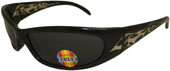 Revex bloqueo de deslumbramiento gafas de sol polarizadas Pesca Deportes Wrap Gafas de sol 100%