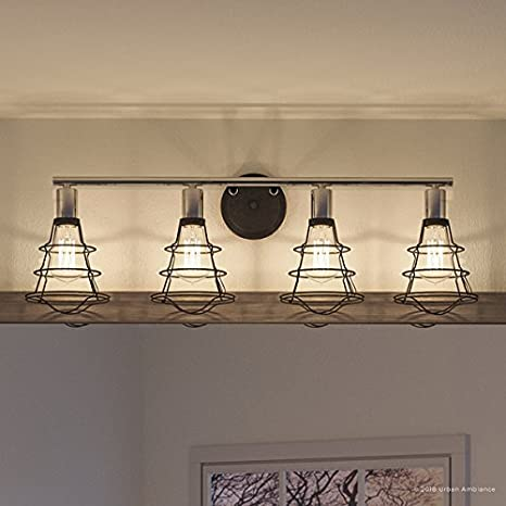 Luxury Vintage Bathroom Vanity Light Large Size 11 H X 34 625 W With Contemporary Style Elements Charcoal Finish Uhp2422 From The Syracuse Collection By Urban Ambiance Amazon Com