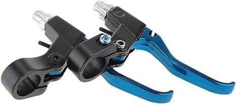 Par Maneta de Freno Metal Aluminio para Bici Bicicleta Color Azul + ...
