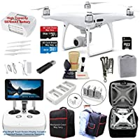 DJI Phantom 4 PRO PLUS (PRO+) Drone Quadcopter (Remote W/ Integrated Touch Screen Display) Bundle Kit with 4K Professional Camera Gimbal and MUST HAVE Accessories