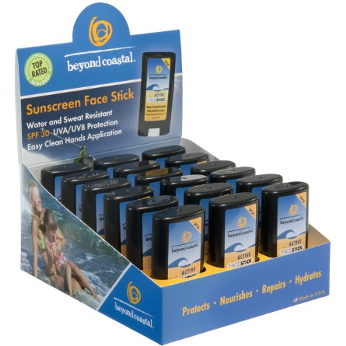 Beyond Coastal Active Face Stick SPF 30 0.5-Ounce (18 Count Box) by Beyond Coastal