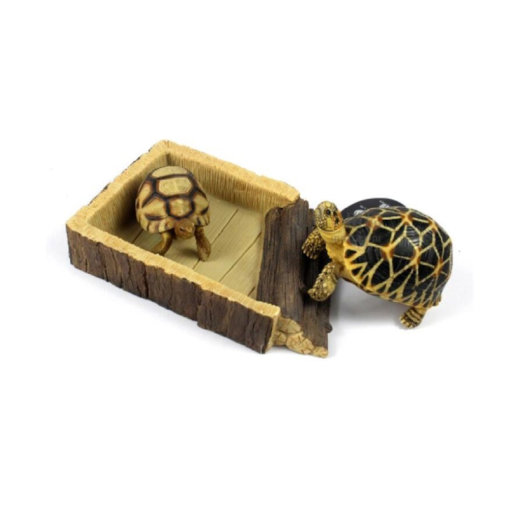 MagiDeal 2Pcs Resin Reptile Feeding Bowl Vivarium Food Water Worm Mealworm Dish Tray Pet Tortoise Gecko Snakes by MagiDeal (Image #8)