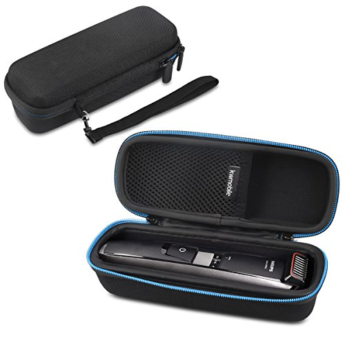 kwmobile Case for Philips beard trimmer Series 5000 7000 9000 - with inner compartment for power supply - protection case for Philips trimmer razor - (5000 Shocks)