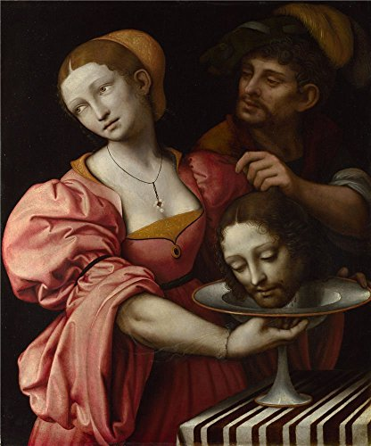 (The Perfect Effect Canvas Of Oil Painting 'Giampietrino Salome ' ,size: 18 X 22 Inch / 46 X 55 Cm ,this Amazing Art Decorative Canvas Prints Is Fit For Kitchen Decor And Home Gallery Art And Gifts)