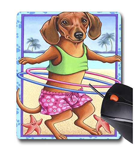 Price comparison product image AOFFLY Tomoyo Pitcher - Dachshund Hula Hoop - Non-Slip Rubber Mousepad Gaming Mouse Pad
