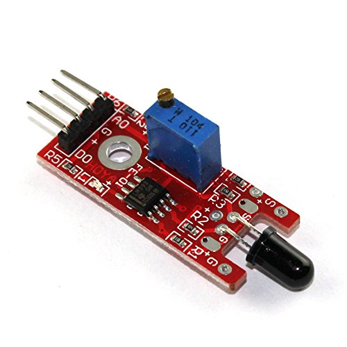 Price comparison product image 3 Pack KY-026 Flame Sensor Module IR Sensor Detector For Temperature Detecting Suitable For Arduino